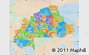 Political Map of Burkina Faso, lighten