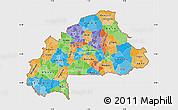 Political Map of Burkina Faso, single color outside