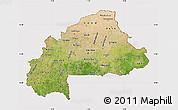 Satellite Map of Burkina Faso, cropped outside