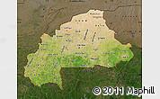 Satellite Map of Burkina Faso, darken