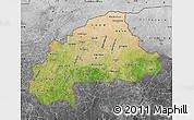 Satellite Map of Burkina Faso, desaturated