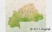 Satellite Map of Burkina Faso, lighten