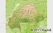 Satellite Map of Burkina Faso, physical outside, satellite sea