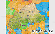 Satellite Map of Burkina Faso, political outside, satellite sea