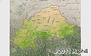 Satellite Map of Burkina Faso, semi-desaturated, land only