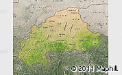 Satellite Map of Burkina Faso, semi-desaturated