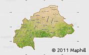 Satellite Map of Burkina Faso, single color outside