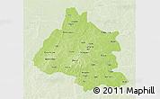 Physical 3D Map of Mou Houn, lighten