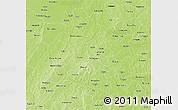 Physical 3D Map of Mou Houn