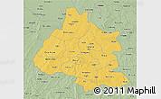 Savanna Style 3D Map of Mou Houn