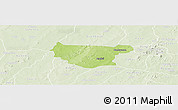 Physical Panoramic Map of Bondokui, lighten