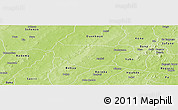 Physical Panoramic Map of Bondokui