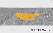 Political Panoramic Map of Bondokui, desaturated
