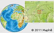Physical Location Map of Boromo