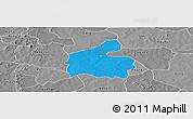 Political Panoramic Map of Boromo, desaturated