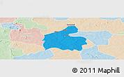 Political Panoramic Map of Boromo, lighten