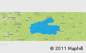 Political Panoramic Map of Boromo, physical outside