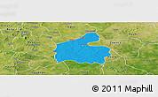 Political Panoramic Map of Boromo, satellite outside