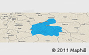 Political Panoramic Map of Boromo, shaded relief outside