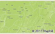 Physical 3D Map of Dedougou