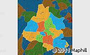 Political Map of Mou Houn, darken
