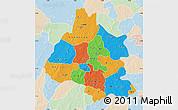 Political Map of Mou Houn, lighten