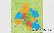 Political Map of Mou Houn, physical outside