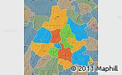 Political Map of Mou Houn, semi-desaturated