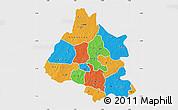 Political Map of Mou Houn, single color outside