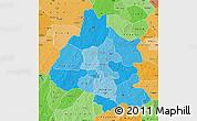 Political Shades Map of Mou Houn