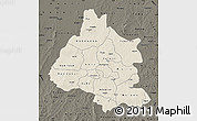 Shaded Relief Map of Mou Houn, darken