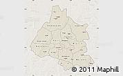 Shaded Relief Map of Mou Houn, lighten