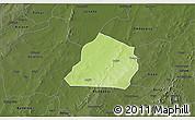 Physical 3D Map of Ouarkoye, darken