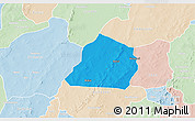 Political 3D Map of Ouarkoye, lighten