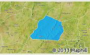 Political 3D Map of Ouarkoye, satellite outside