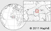 Blank Location Map of Ouarkoye