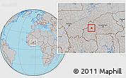 Gray Location Map of Ouarkoye