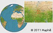 Satellite Location Map of Ouarkoye