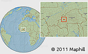Savanna Style Location Map of Ouarkoye, hill shading