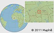 Savanna Style Location Map of Ouarkoye