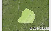 Physical Map of Ouarkoye, darken