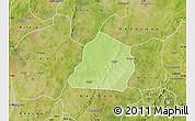 Physical Map of Ouarkoye, satellite outside