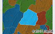 Political Map of Ouarkoye, darken