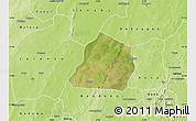 Satellite Map of Ouarkoye, physical outside