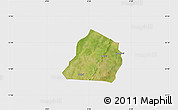 Satellite Map of Ouarkoye, single color outside
