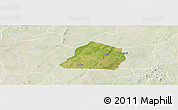 Satellite Panoramic Map of Ouarkoye, lighten