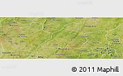 Satellite Panoramic Map of Ouarkoye