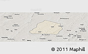 Shaded Relief Panoramic Map of Ouarkoye, semi-desaturated