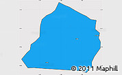 Political Simple Map of Ouarkoye, cropped outside