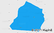 Political Simple Map of Ouarkoye, single color outside